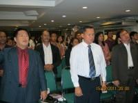 KKR di Hotel Rubi Kinabalu,nampak pdt.rolly rorong.Pastor Yosep Piter.Pdt Ir Hano palit.