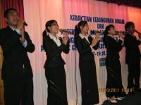 Pdt Rolly Rorong dan pdt Hano Palit .Pastor Yosep Piter.KKR di hotel Duta Keningau malasya