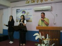 KKR di evangelical church limbang Malasya.