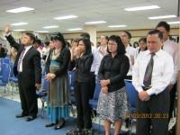 Pdt Rolly Rorong KKR di jakarta di gedung Panin Bank pelaksana Gesba new lafe.gembala senior Pdt Jemmy Tampi.