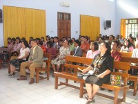 Tim Safari Beribadah di Gereja sidang Jemaat Allah Nganjuk namapk ibu Gembala,Bpk John Hengzs.S.H.M.Hum.