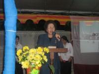pdt  ibu Tating Tunas Surentu dari gereja sidang jamaat Allah sebagai pembicara