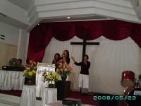 KKR di Gereja Pantekosta Isa Almasi Blitar.Pdm.Debby Wungkana leader,ibu Mintje,Vebe.
