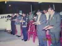 Pdt Rolly Rorong.KKR di lapangan Rocky Sorong.nampakBpk pdt  Waworuntu dan pdt Rolly serta anggota DPR sorong dan wakil bupati yg membuka KKR