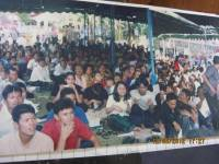 Pdt Rolly Rorong KKR di lapangan terbuka Salatiga jawa tengah.Indonesia penuh urapan