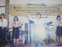 Pdt Rolly Rorong.Pekan Baru penuh urapan.gedung olaraga pekan baru.didukung oleh full gospel cater pekan baru dan Bimas kristen 1994